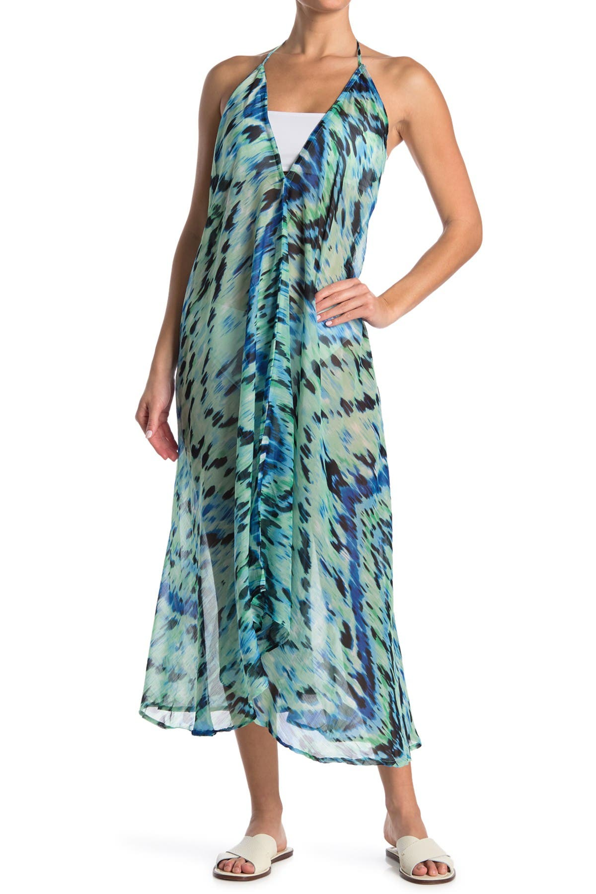 Image of KENDALL AND KYLIE Halter Neck Maxi Cover Up
