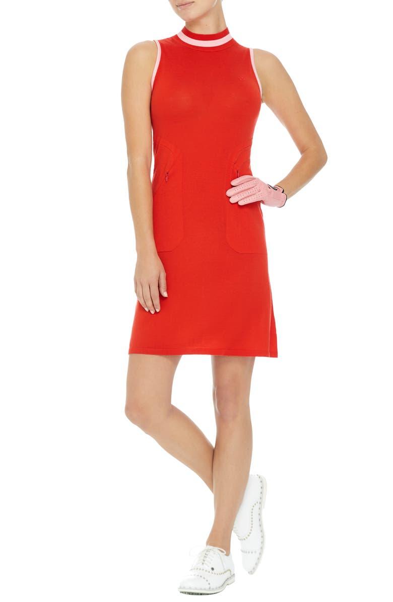 G/FORE Sleeveless Mock Neck Golf Dress, Main, color, 600