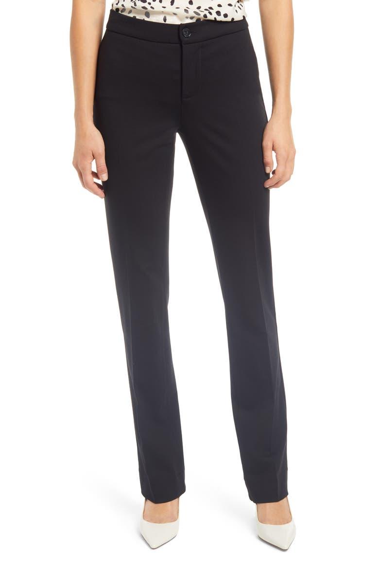CURVES 360 BY NYDJ Slim Fit Ponte Pants, Main, color, BLACK
