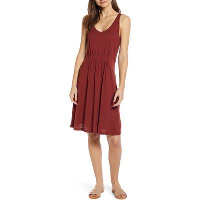 Caslon Sleeveless Knit Dress, Burgundy