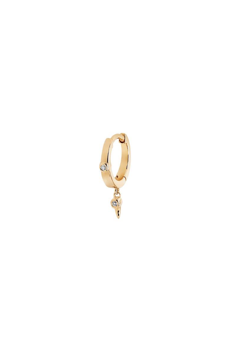 MARIA BLACK Diamond Dangle Huggie Earring, Main, color, 710