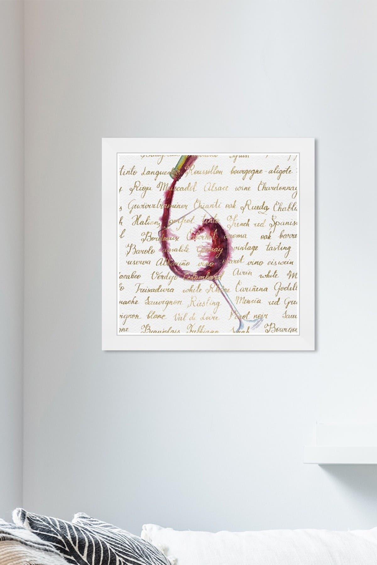 Image of Wynwood Studio Canvas Wine List Gold Drinks & Spirits Framed Wall Art
