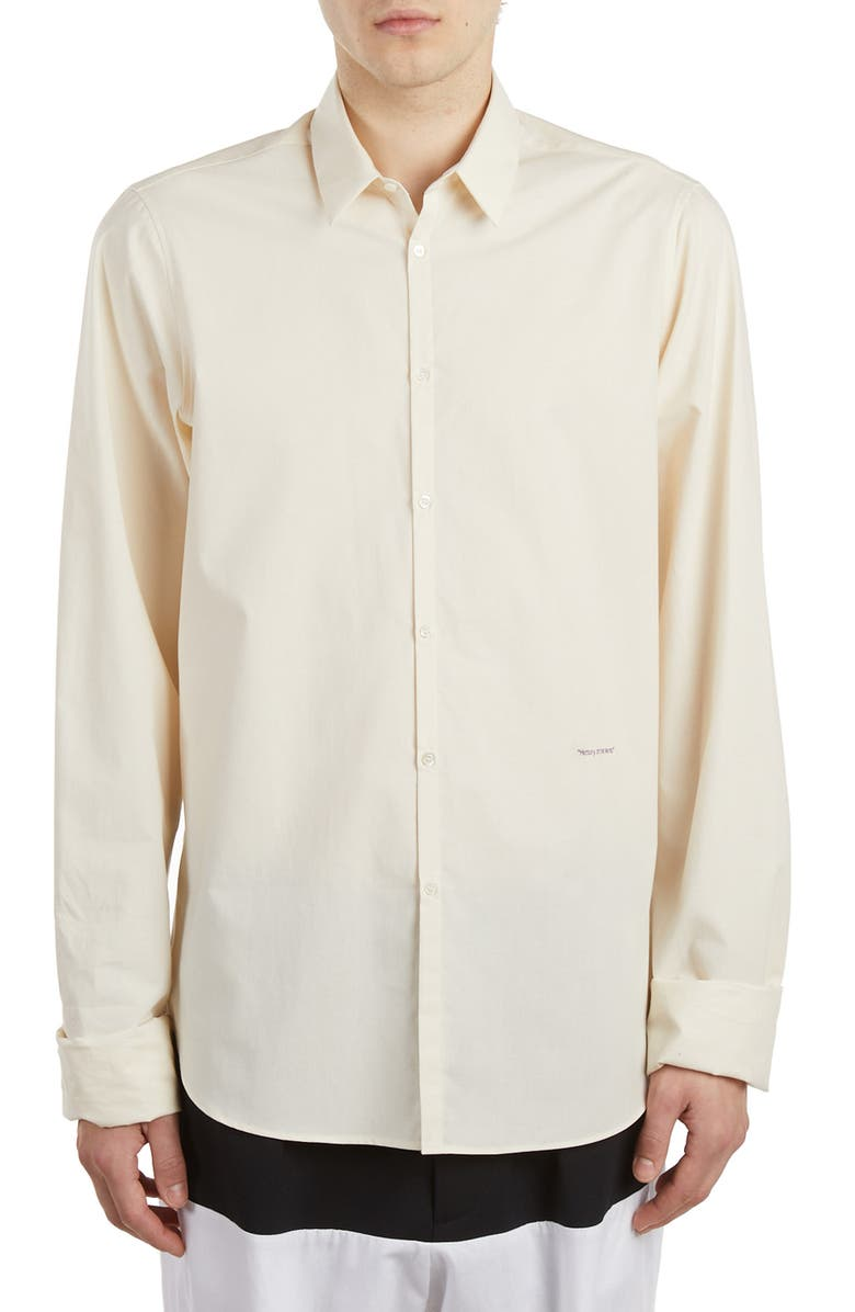 RAF SIMONS History of the World Slim Fit Cotton Shirt, Main, color, 900