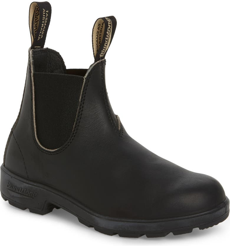 BLUNDSTONE FOOTWEAR Stout Water Resistant Chelsea Boot, Main, color, BLACK LEATHER