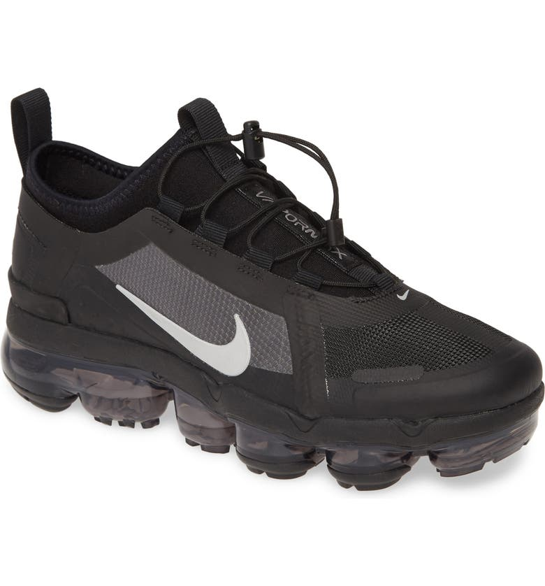 NIKE Air VaporMax Utility 2019 Water Repellent Sneaker, Main, color, BLACK/ SILVER/ WHITE