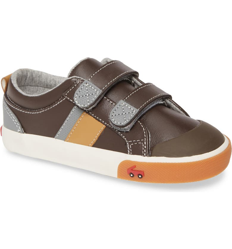 SEE KAI RUN Russell Sneaker, Main, color, BROWN LEATHER