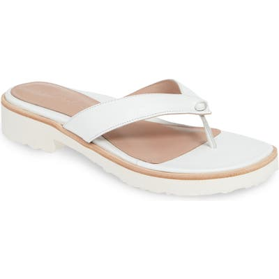 Taryn Rose Collection Taziana Flip Flop, White