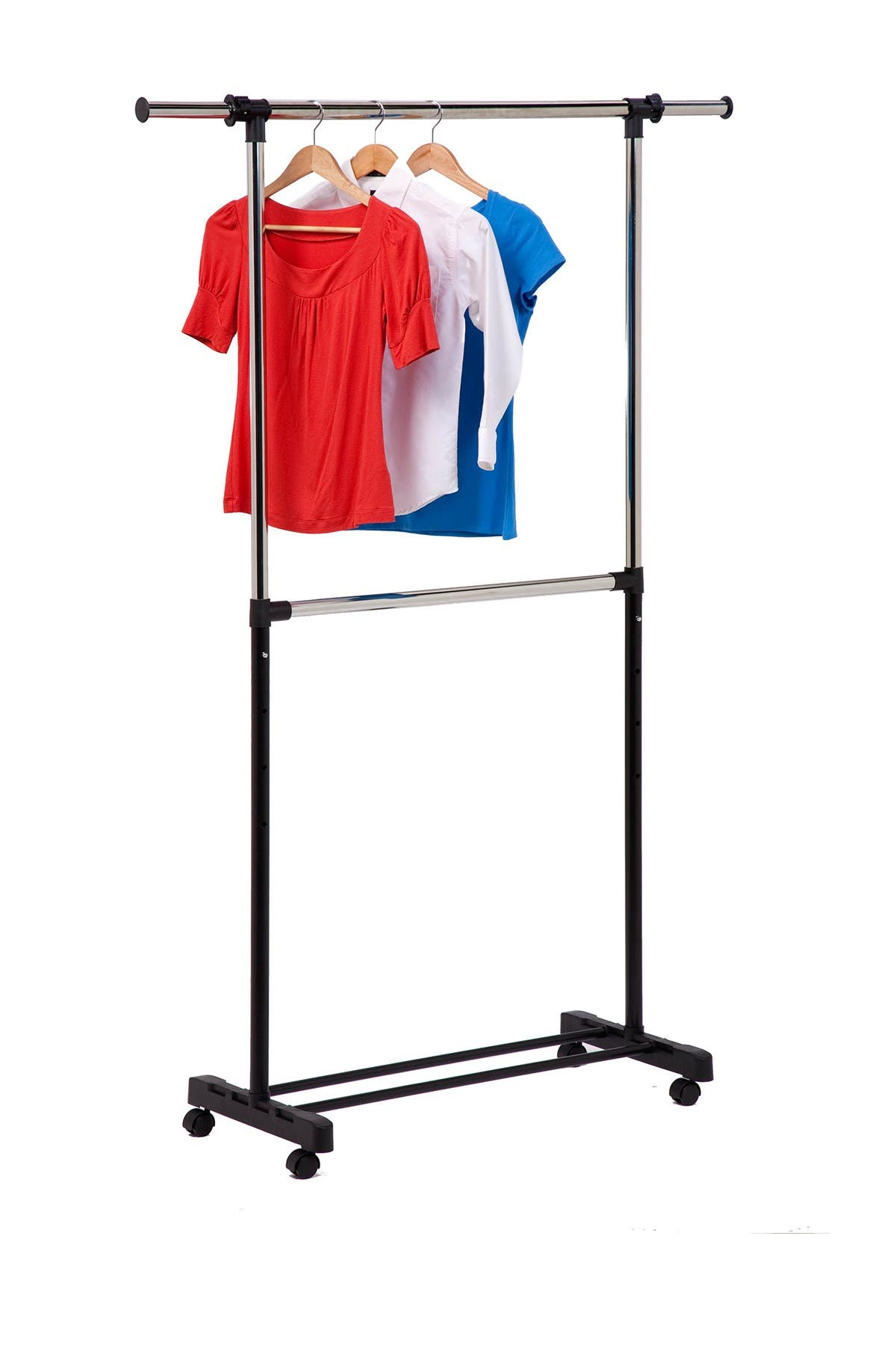 Image of Honey-Can-Do Dual Rod Expandable Garment Rack