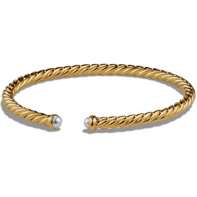 David Yurman Cable Spira Bracelet With Semiprecious Stones In 18K Gold