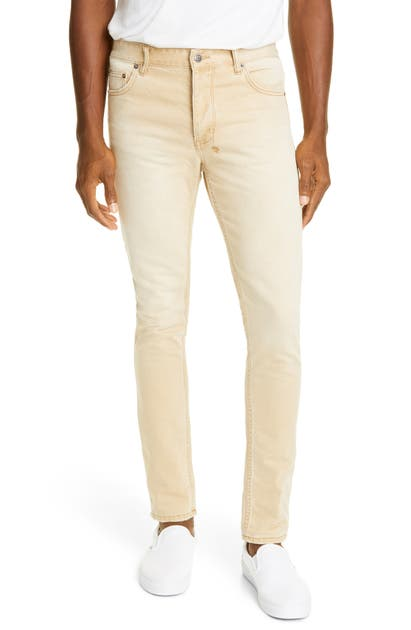 Ksubi Men's Chitch Distressed Slim Jeans In Stone