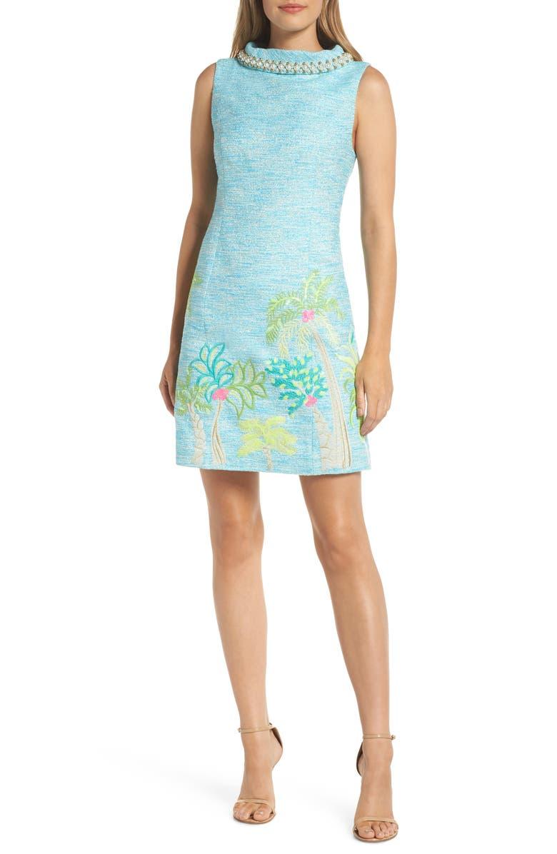 LILLY PULITZER<SUP>®</SUP> Portia Tweed Sheath Dress, Main, color, 424
