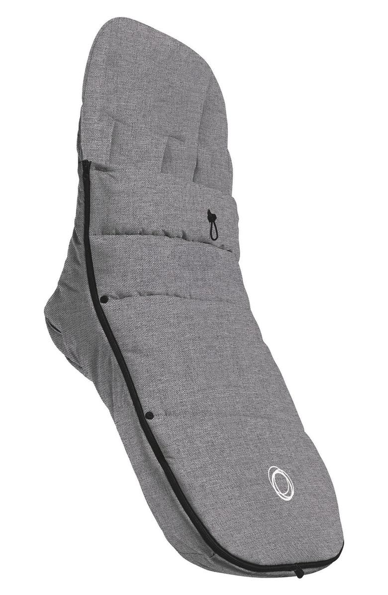 BUGABOO Water Repellent Stroller Footmuff, Main, color, GREY MELANGE