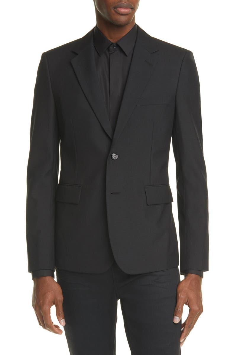 SAINT LAURENT Classic Wool Sport Coat, Main, color, BLACK