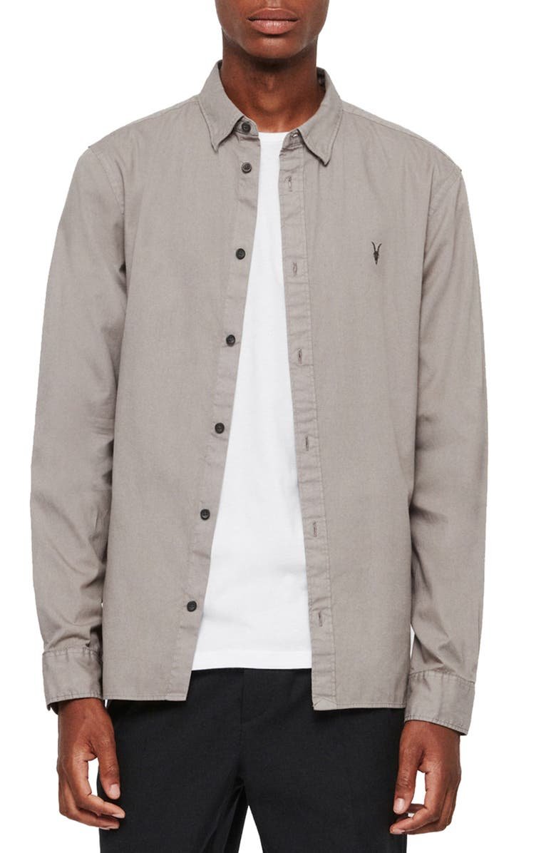 ALLSAINTS Redondo Slim Fit Shirt, Main, color, 020