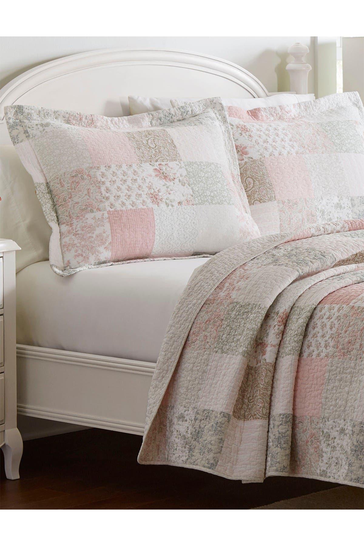 Laura Ashley Celina Patchwork Pastel Pink Full Queen Quilt Set Nordstrom Rack
