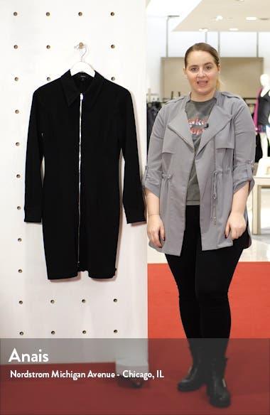 Zip Front Long Sleeve Shirtdress, sales video thumbnail