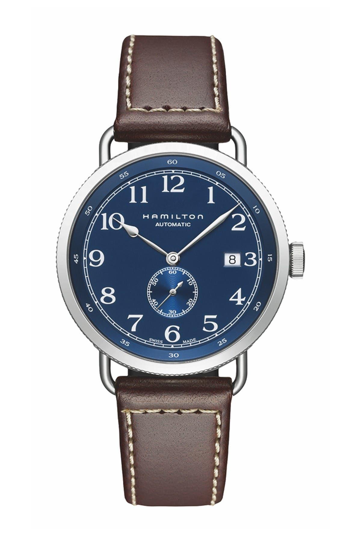Image of Hamilton Men's Khaki Navy Swiss Automatic Watch, 40mm