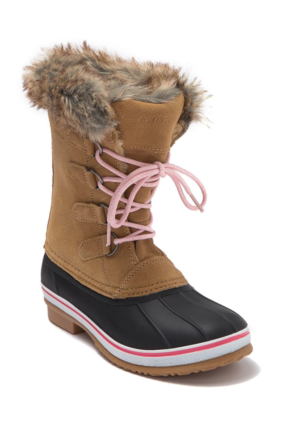 Image of NORTHSIDE Kathmandu Waterproof Suede Faux Fur Winter Boot