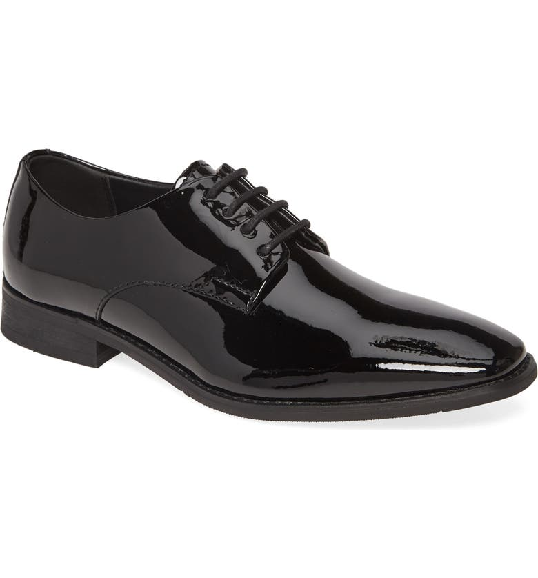 CALVIN KLEIN Ramses Patent Derby, Main, color, BLACK