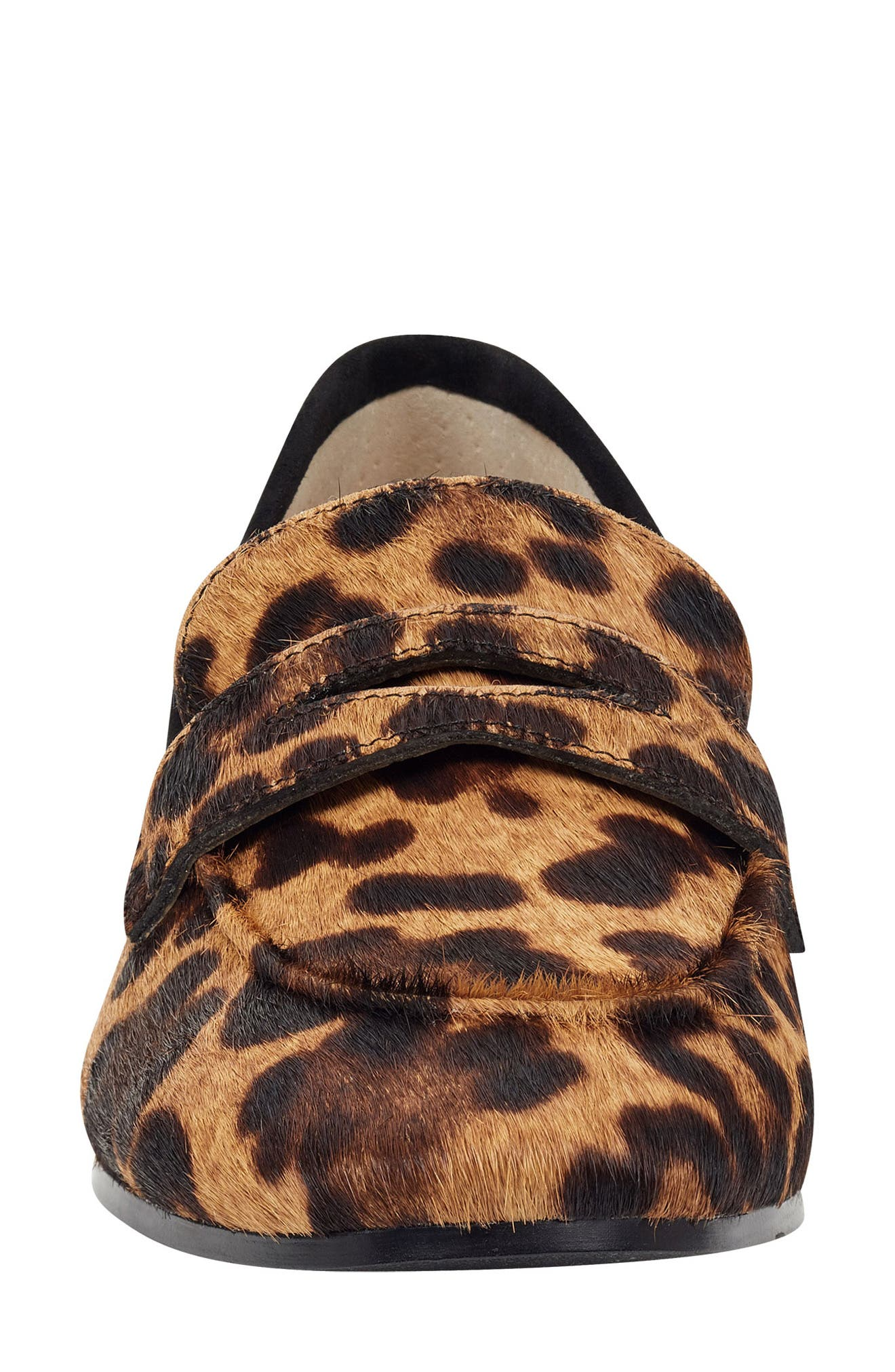 ,                             Chang Penny Loafer,                             Alternate thumbnail 4, color,                             LEOPARD PRINT CALF HAIR