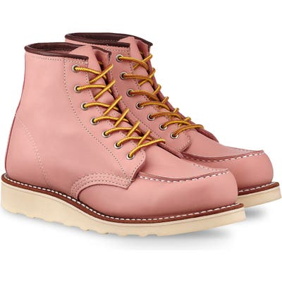 Red Wing 6-Inch Moc Boot- Pink