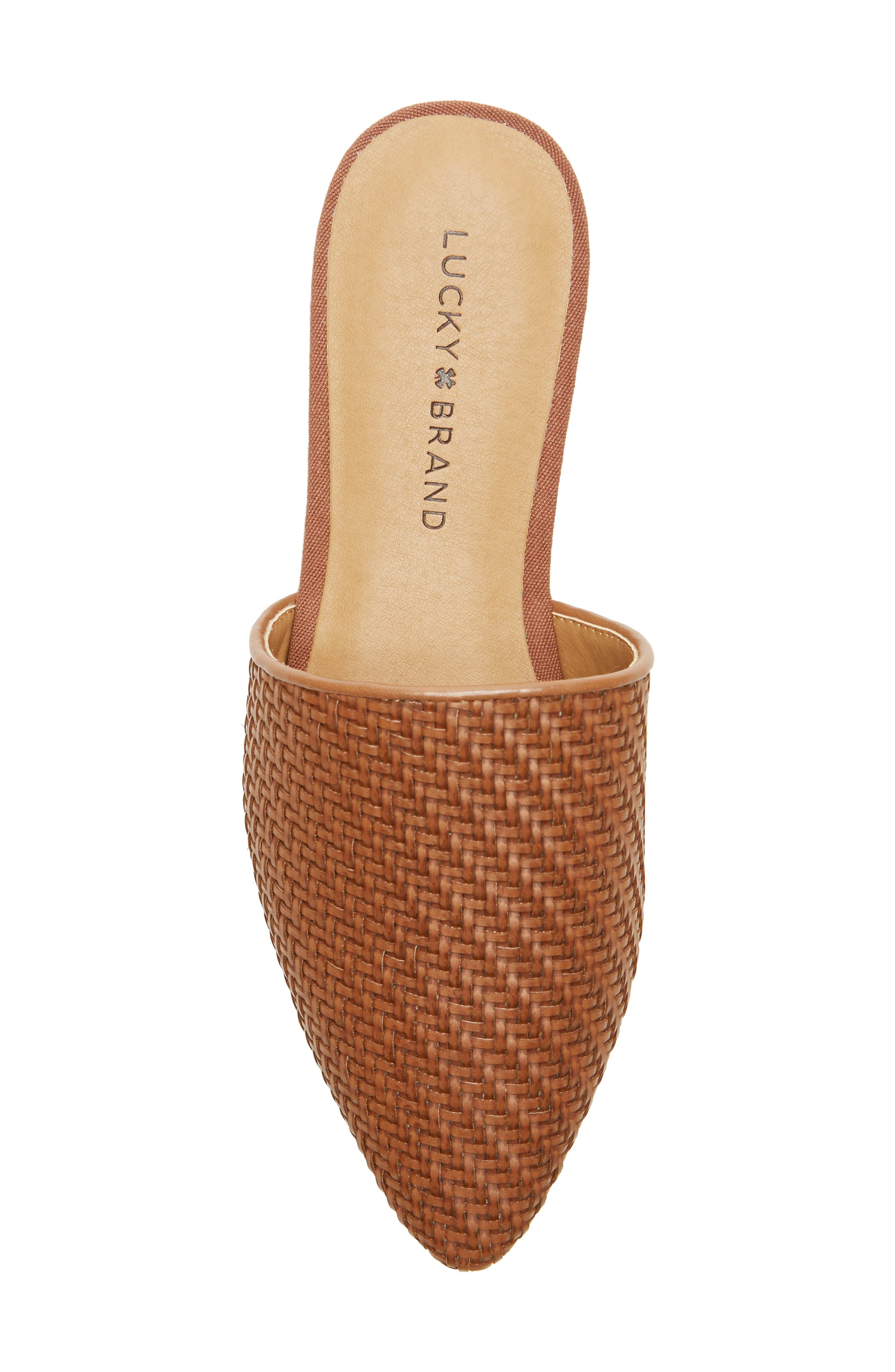 ,                             Bradell Pointy Toe Mule,                             Alternate thumbnail 5, color,                             UMBER LEATHER