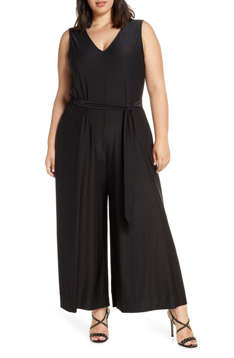 COLDESINA Abi Sleeveless Wide Leg Jumpsuit, Main, color, BLACK