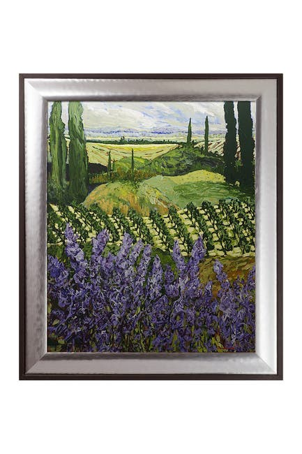 """Image of Overstock Art Chinaberry Hill with Magnesium Silver Frame - 25.25"""" x 29.25"""""""