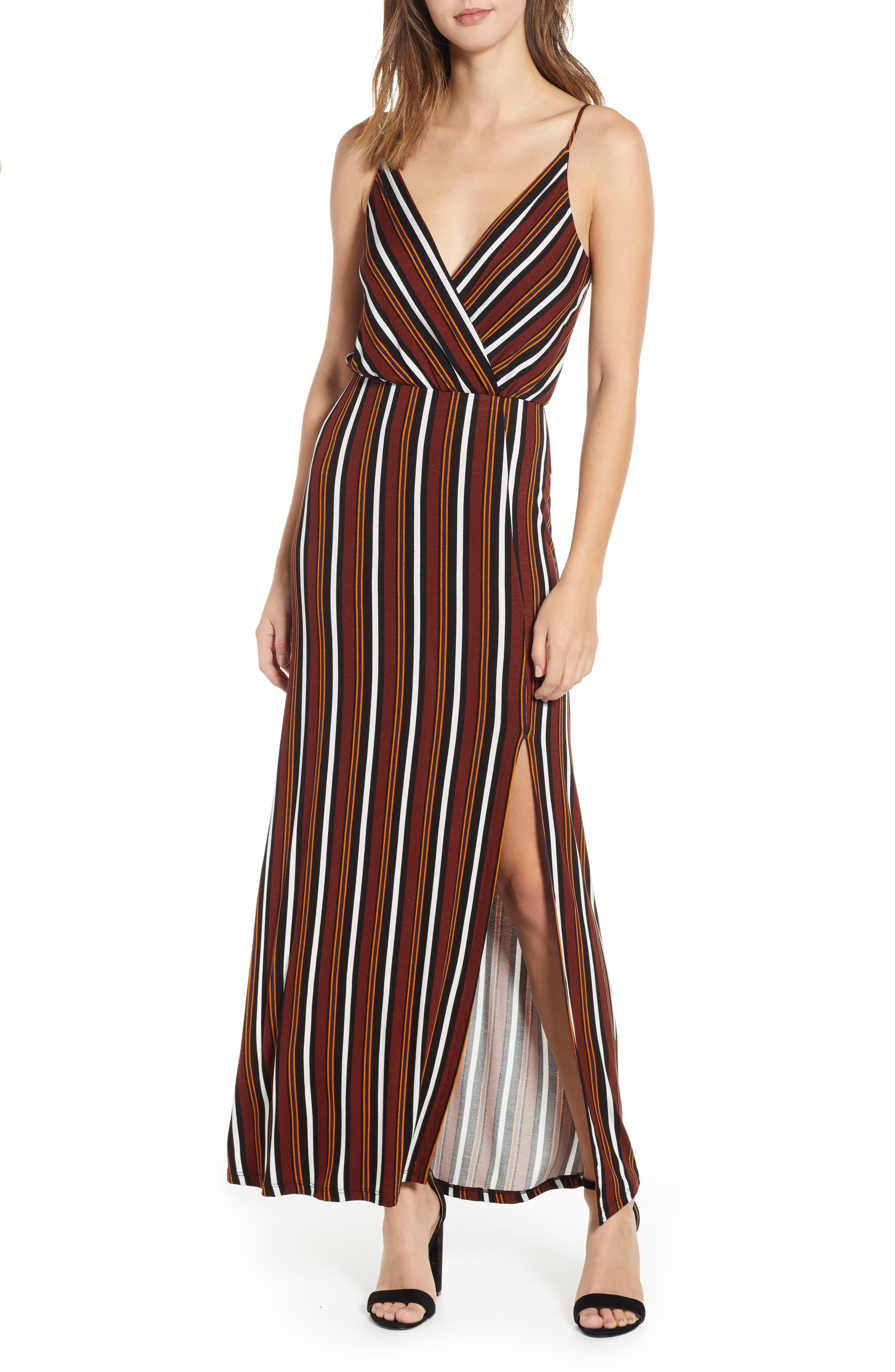 ,                             Surplice Neck Knit Maxi Dress,                             Main thumbnail 8, color,                             200