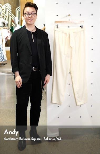 Tie Front Linen Blend Pants, sales video thumbnail