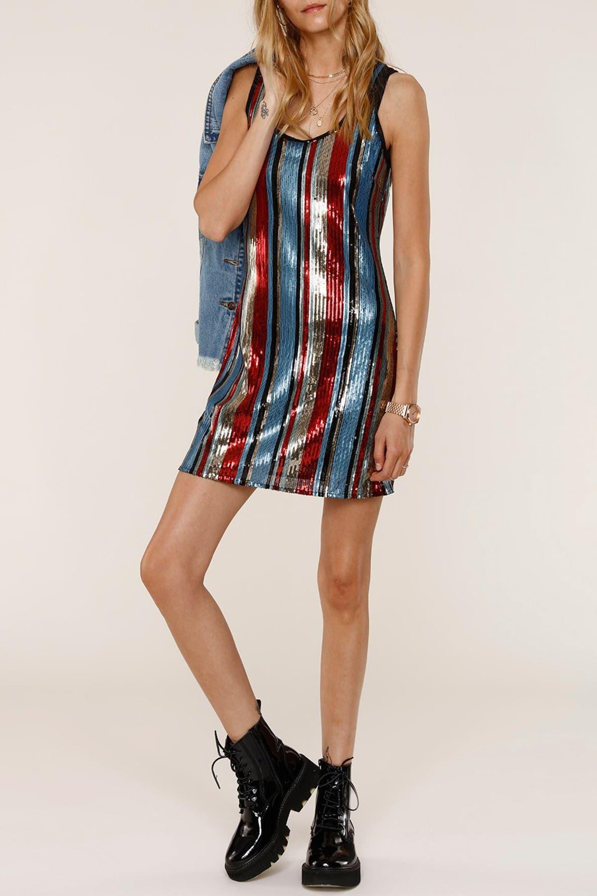 Image of Heartloom Seren Sequined Slip Mini Dress