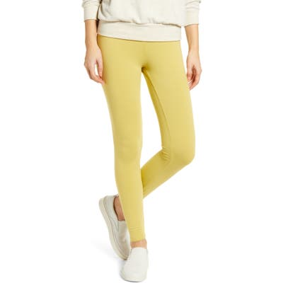 Lou & Grey Essential High Waist Terry Leggings, Yellow