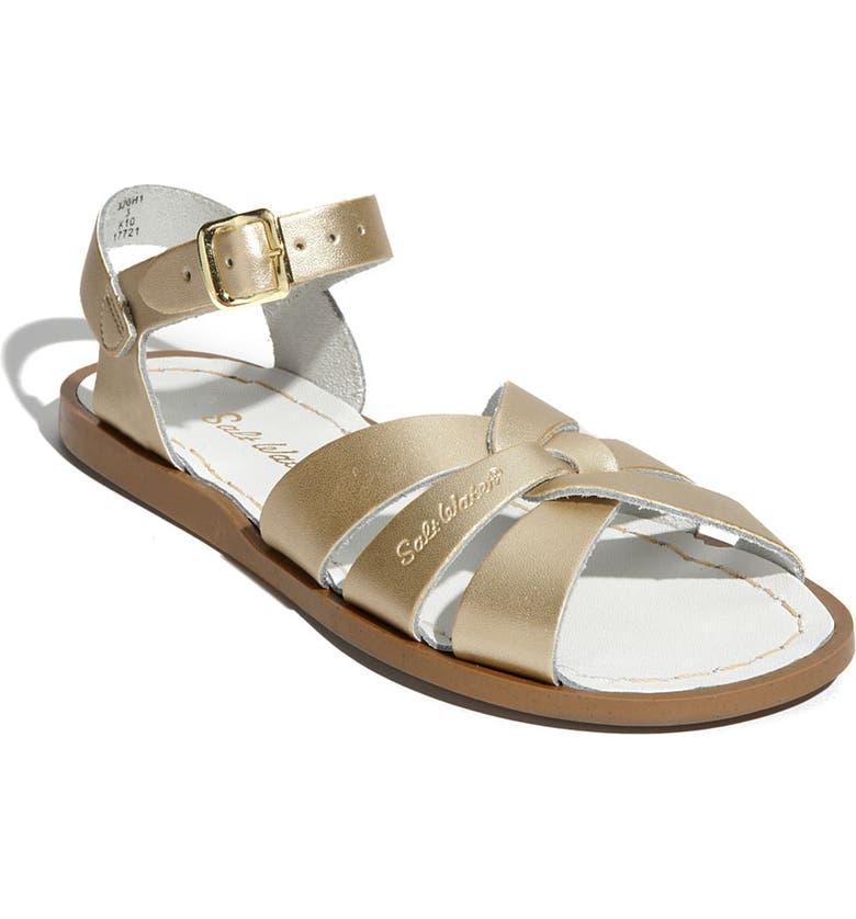 SALT WATER SANDALS BY HOY Original Sandal, Main, color, GOLD