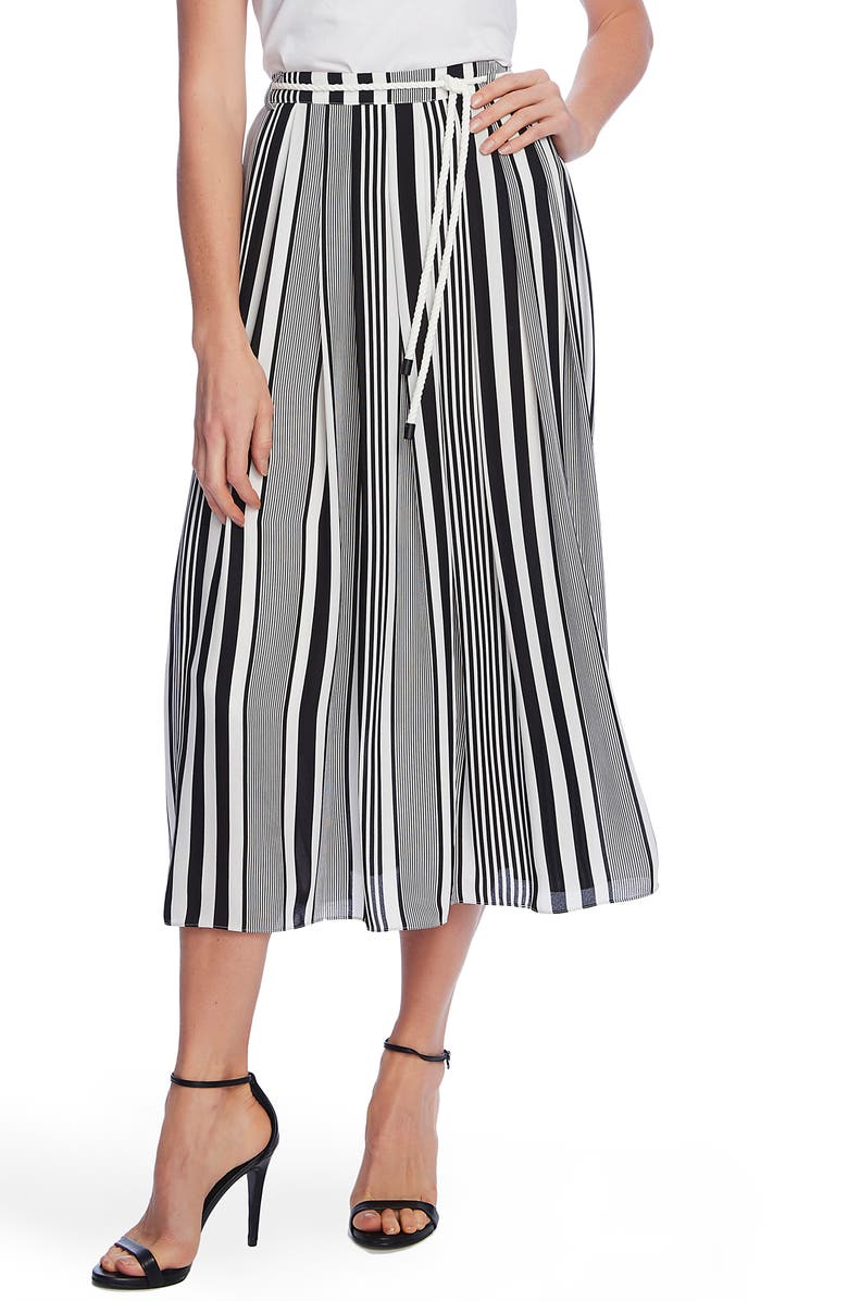 VINCE CAMUTO Variegated Stripe Rope Midi Skirt, Main, color, 001