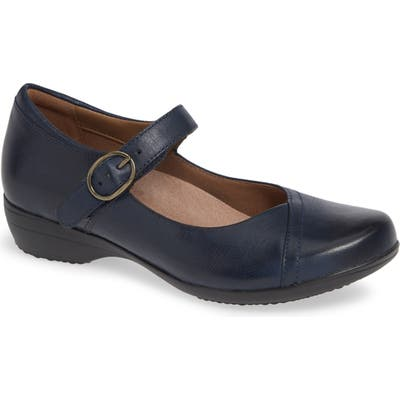 Dansko Fawna Mary Jane Flat-6- Blue