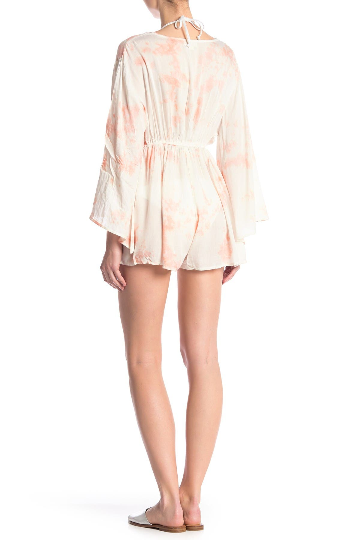 Image of BOHO ME Tie Dye Plunge Cover-Up Tunic