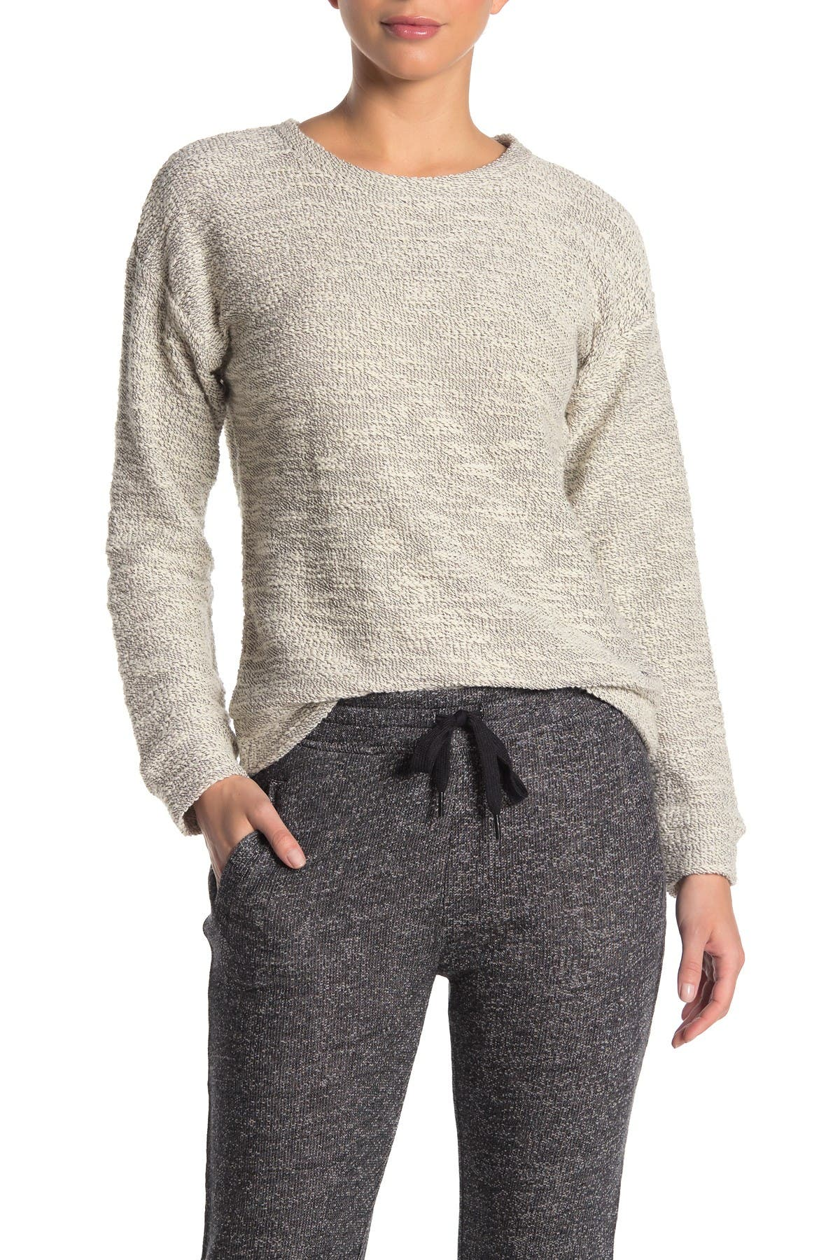 Image of MARC NEW YORK PERFORMANCE Boucle Crew Neck Pullover