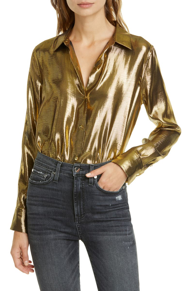 EQUIPMENT Burnel Metallic Silk Blouse, Main, color, 710