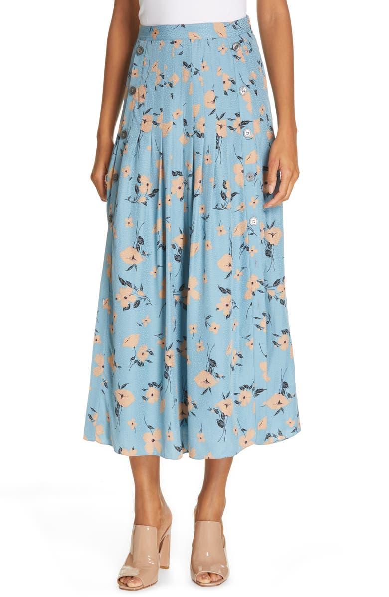 REBECCA TAYLOR Daniella Jacquard Midi Skirt, Main, color, 423