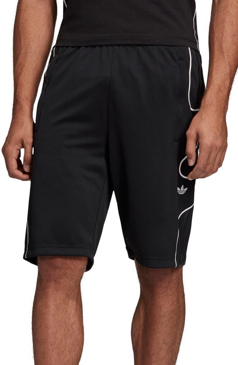 ADIDAS ORIGINALS Flamestrike Athletic Shorts, Main, color, BLACK