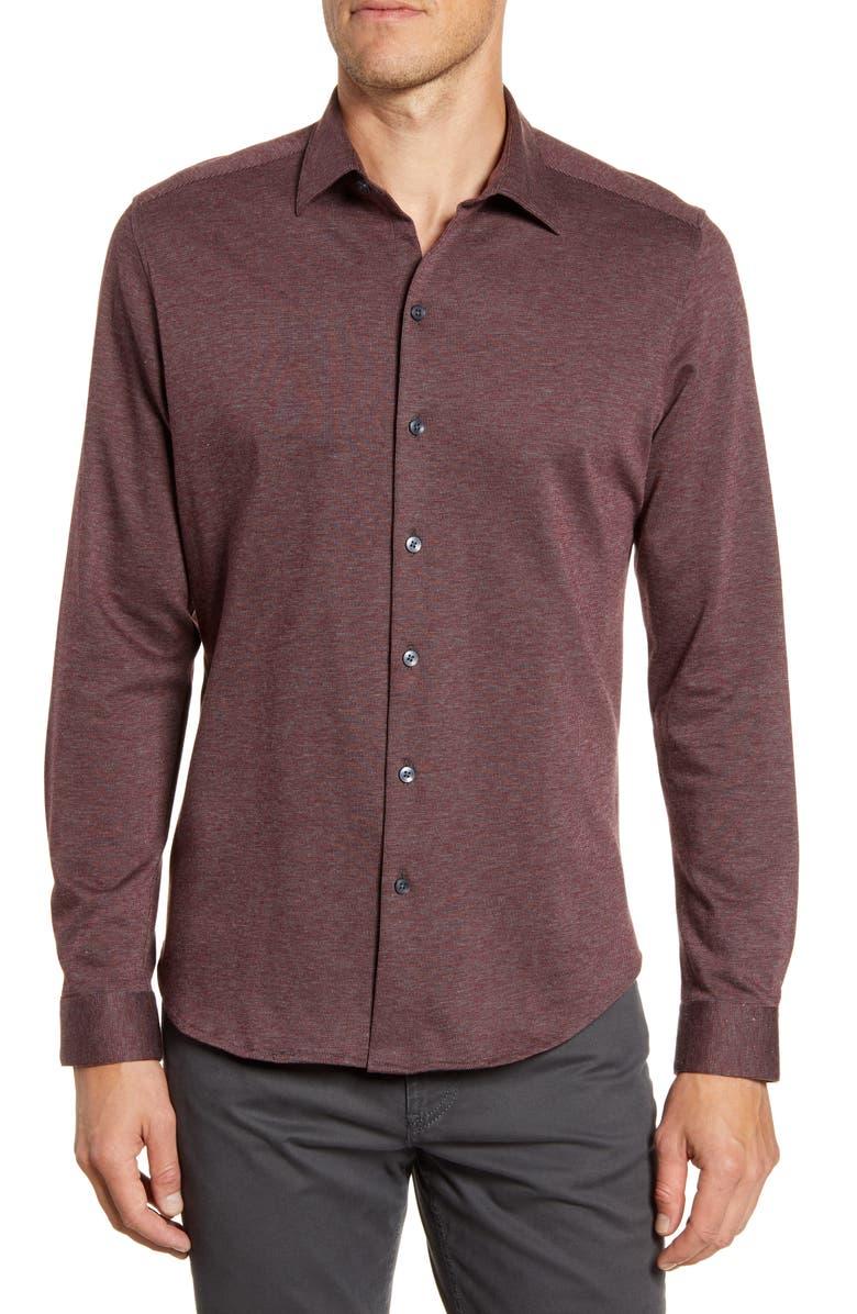 ROBERT BARAKETT Kawartha Regular Fit Knit Button-Up Shirt, Main, color, 617