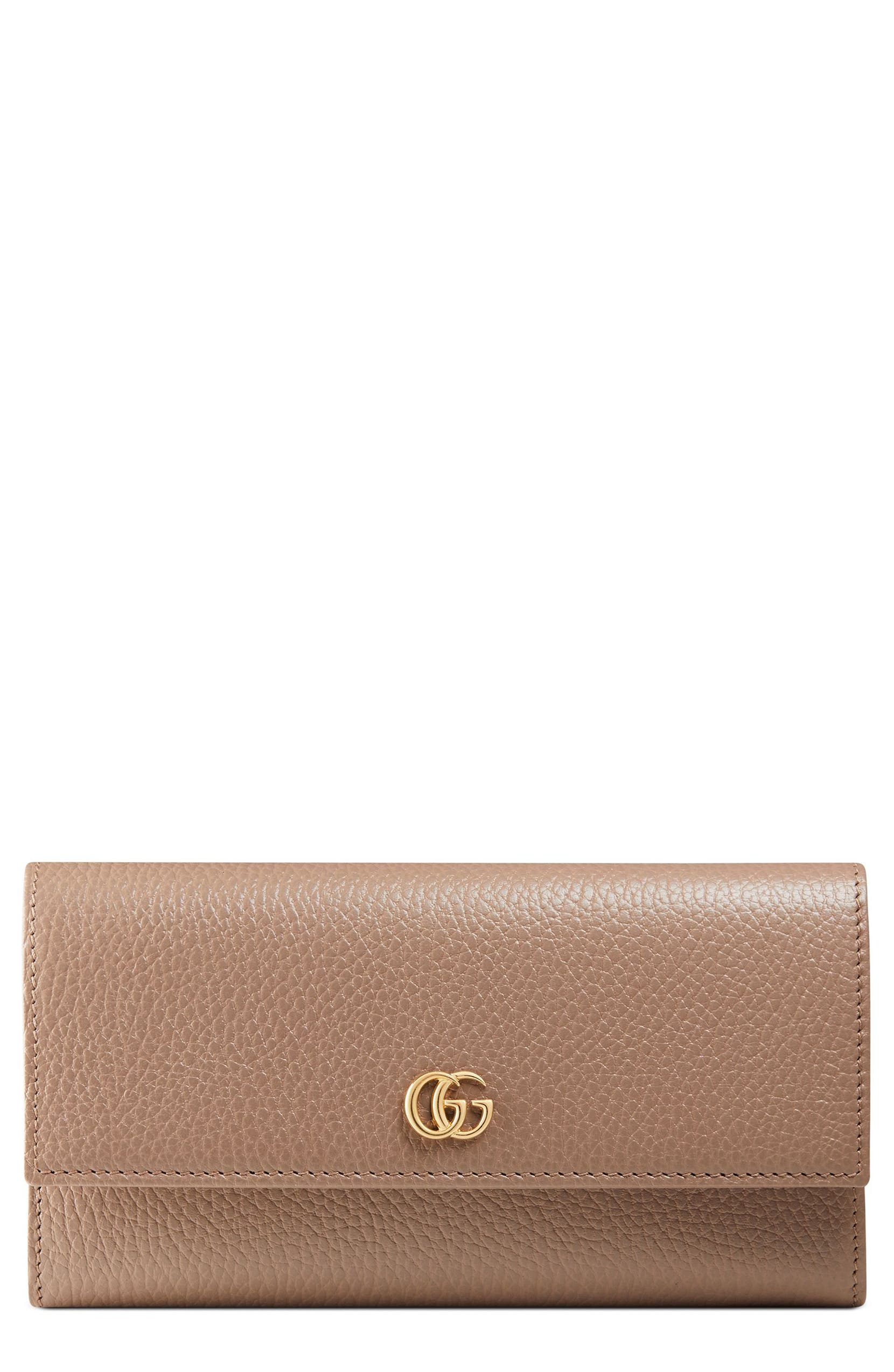 4cebc8cc5cdb Gucci Petite Marmont Leather Continental Wallet | Nordstrom