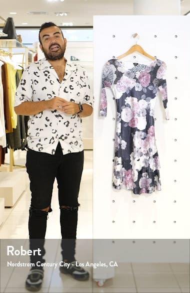 Floral Charmeuse A-Line Dress, sales video thumbnail