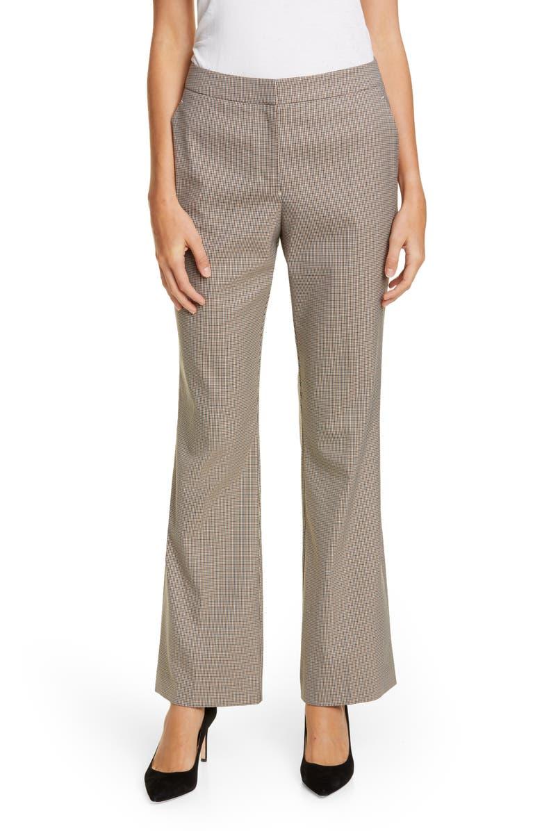 BOSS Tanani Check Suit Pants, Main, color, CAMEL FANTASY