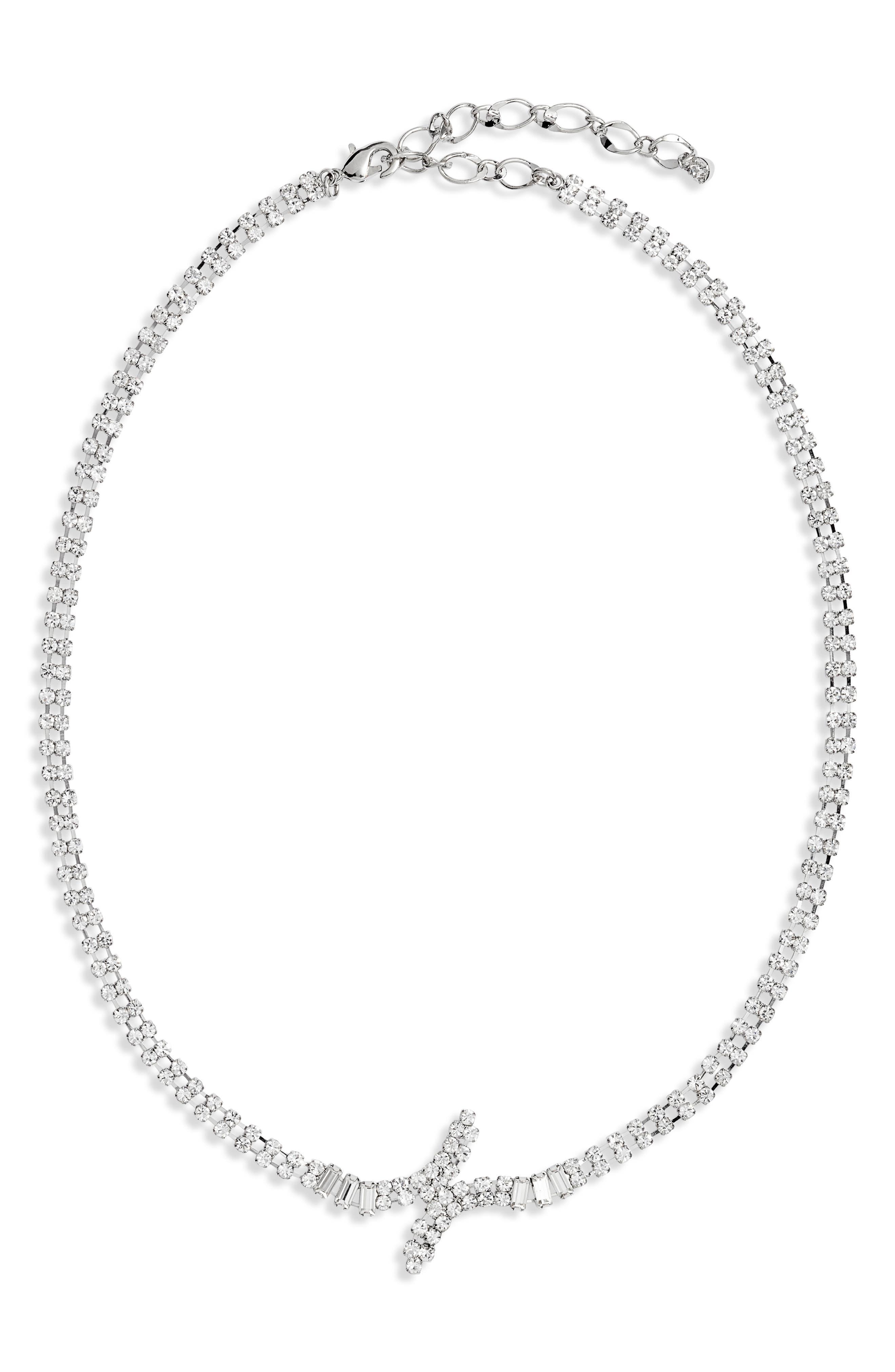 Crisscross Crystal Necklace