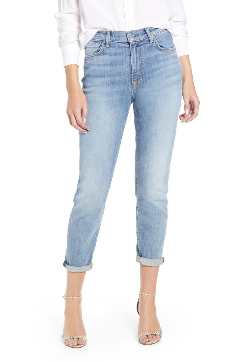 7 FOR ALL MANKIND<SUP>®</SUP> High Waist Slim Crop Jeans, Main, color, NOLITA