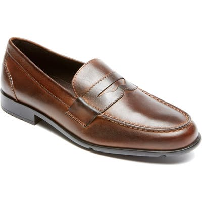 Rockport Leather Penny Loafer W - Brown