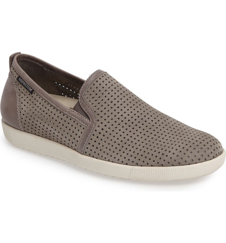 MEPHISTO 'Ulrich' Perforated Leather Slip-On, Main, color, 057