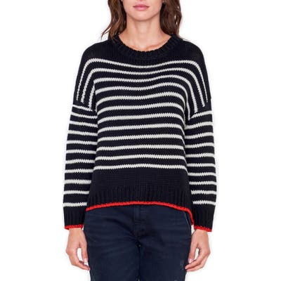 Sundry Stripe Wool Blend Sweater, (fits like 6-8 US) - Black