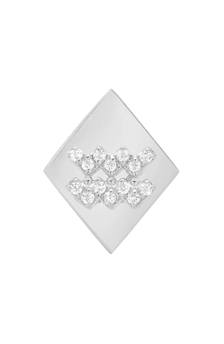 MINI MINI JEWELS Frame Diamond Zodiac Sign Earring, Main, color, 100